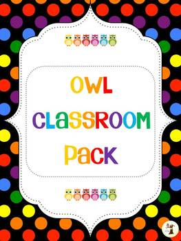 Owl Theme Classroom Decor Pack cute
