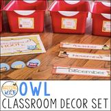 Owl Classroom Decor Set