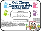 Owl Theme Classroom Jobs and Helping Hands