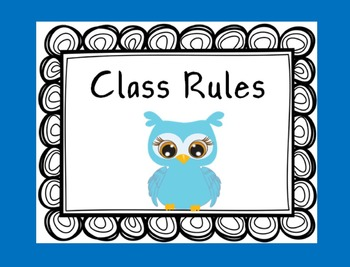 Owl Theme Classroom Management Bundle