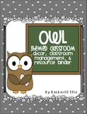 Owl Theme Classroom {Organization, Decor, & Resource Binder}