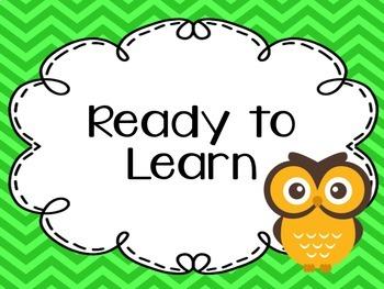 Owl Theme Classroom Pack 1 {Editable}