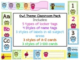 Owl Theme Classroom Pack