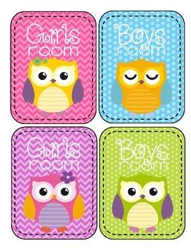 Owl Theme Classroom Passes