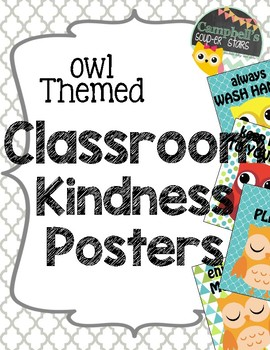 Owl Theme {Classroom Politeness Posters}