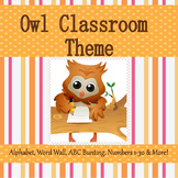 Owl Theme Classroom  with Editable Pages