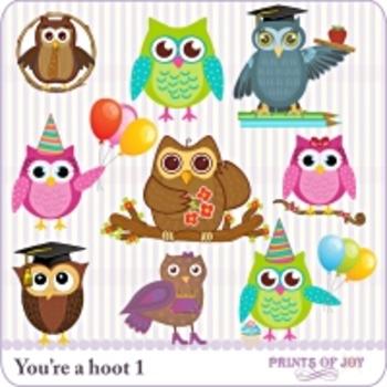 Owl Theme Clip Art
