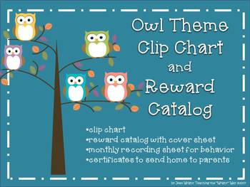 Owl Theme Clip Chart and Reward Catalog