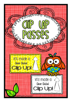 Owl Theme Clip Up Passes Freebie!
