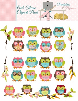 Owl Theme Clipart Pack
