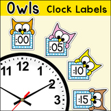 Owl Theme Telling Time Clock Labels - Back to School Classroom Decor