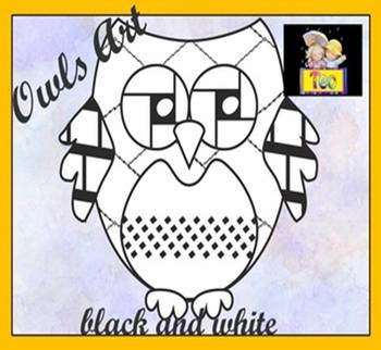 Owl Theme - Coloring Activities - Clip art - Back to School