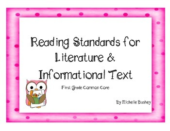 Owl Theme Common Core Reading Literature and Informational Text Writing Pages