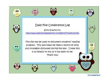 Owl Theme Conference Log
