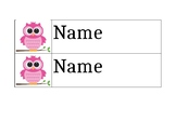Owl Theme Cubby Labels (EDITABLE)