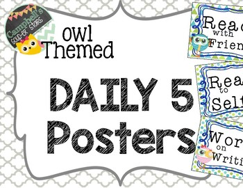 Owl Theme {Daily 5 Posters}