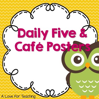 Owl Theme Daily 5 and Cafe Posters