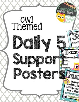 Owl Theme {Daily 5 support Posters}