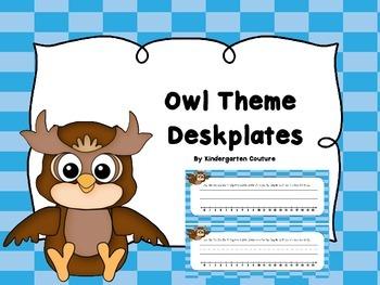 Owl Theme Deskplates