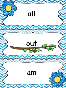 Owl Theme Dolch Kindergarten Word Wall