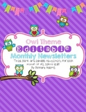 Owl Theme Editable Newsletter Templates