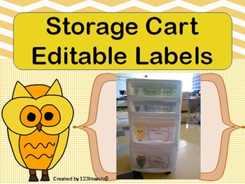 Owl Theme Editable Storage Labels/ Classroom Labels