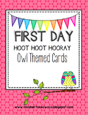Owl Theme {First Day} Handout