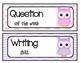 Owl Theme Focus Wall Headers - Reading Street