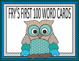 Owl Theme Fry's 100 Word Cards