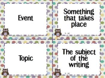 Owl Theme Grade Five CCSS Complete Vocabulary Program
