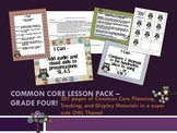Owl Theme Grade Four Common Core Lesson Planning Pack