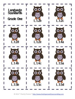 Owl Theme Grade One Common Core Lesson Planning Pack