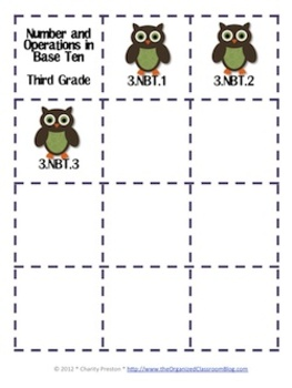Owl Theme Grade Three Common Core Lesson Planning Pack