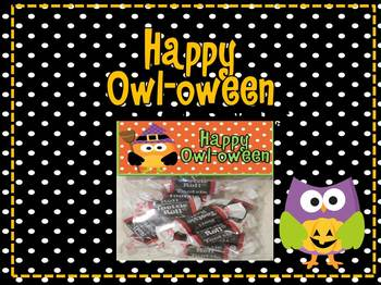 Owl Theme- Happy Owl-oween Treat Bag Toppers