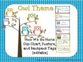 Owl Theme How We Go Home {editable}