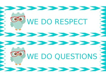 "Owl Theme ""In this classroom..."" (editable)"