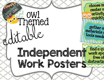 Owl Theme {Independent Work Rules}