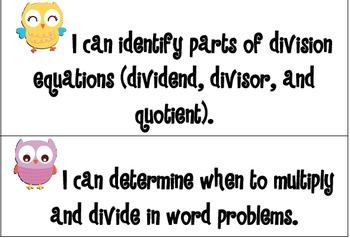 Owl Theme Kid Friendly Math Common Core
