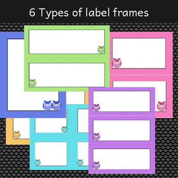 Owl Labels Frames - Editable Owl Themed Documents