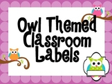 Owl Theme Labels