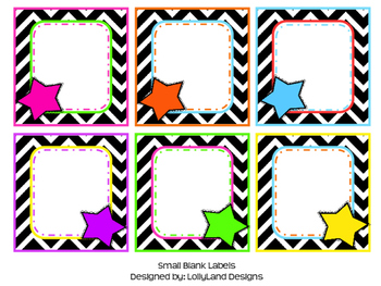 Star Themed Blank Labels
