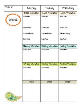 Owl Theme Lesson Planner