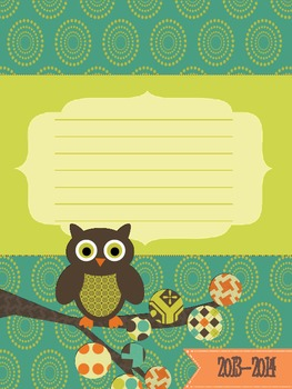 Owl Theme Lesson Planner