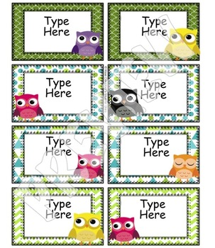 Owl Theme {Library Labels and Tags}