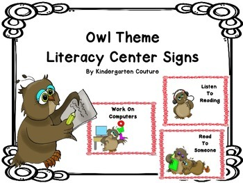 Owl Literacy Center Signs