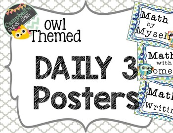 Owl Theme {Math CAFE Posters and Strategies}