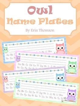Name Plates ~ Owl Theme