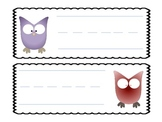 Owl Theme Name Tags