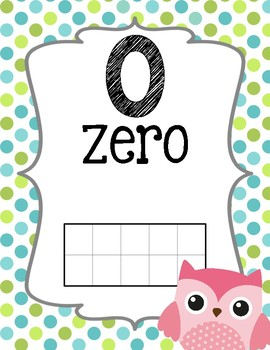Owl Theme {Number Line}