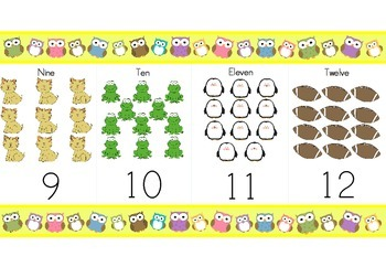 Owl Theme Number Line